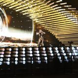 Edurne en el segundo ensayo del Festival de Eurovisión 2015