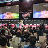 Rueda de prensa de Edurne en el Festival de Eurovisión 2015