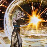 El nuevo vestido dorado de Edurne en Eurovisión 2015