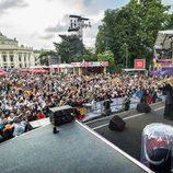 """Edurne canta """"Amanecer"""" en el Eurovisión Village en Viena"""