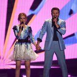Monika Linkyte y Vaidas Baumila, Lituania, en la semifinal 2 de Eurovisión 2015