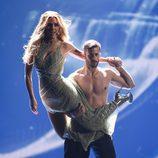 Edurne el clava el tacón a Giuseppe Di Bella en el primer ensayo de la Final de Eurovisión 2015