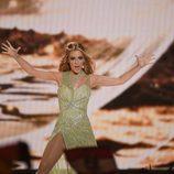 Edurne llora en su actuación de 'Amanecer' en la Final de Eurovisión 2015