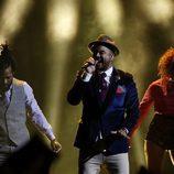 Guy Sebastian, Australia, en la Final de Eurovisión 2015