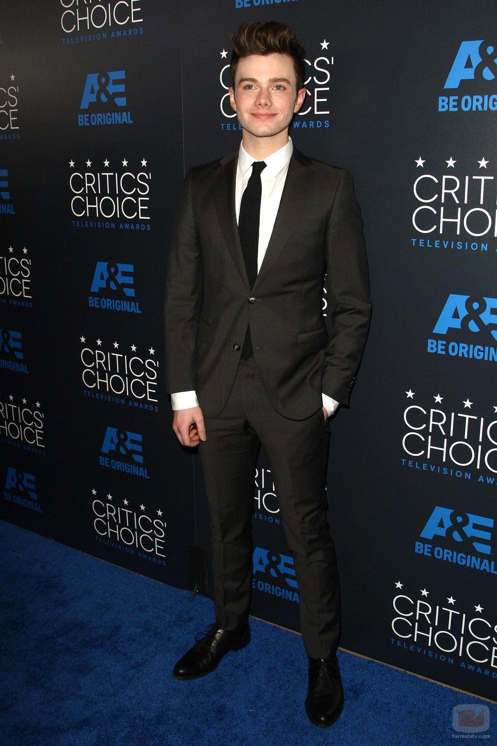Chris Colfer en los Critics' Choice Awards 2015