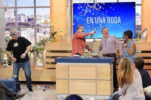 Los Morancos presentando 'Jugamos en casa'