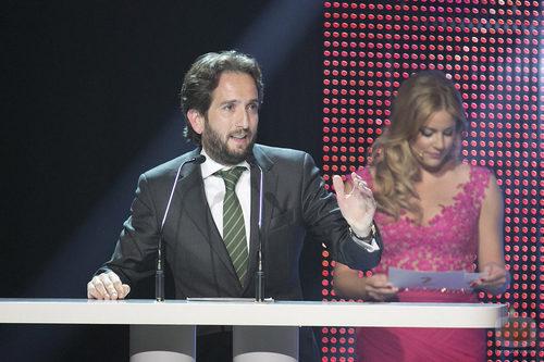 Raúl Berdonés, presidente del Grupo Secuoya, en un discurso de la Gala de 7TV Murcia