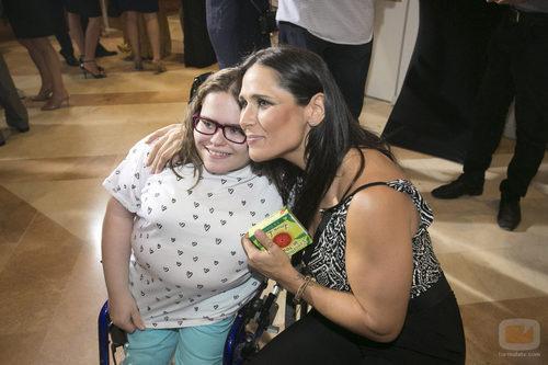 La cantante Rosa en la Gala de 7TV Murcia