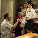 Teresa y Gabriel en el cuarto episodio de 'Anclados'