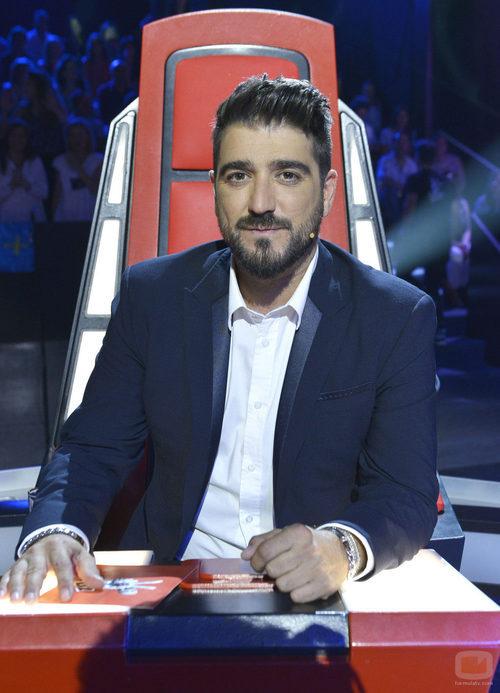 Antonio Orozco en su sillón durante la final de 'La voz 3'
