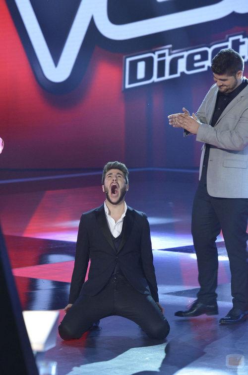 Antonio José emocionado al ganar 'La voz 3'
