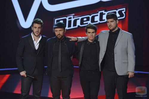 Antonio José, Joaquín, Maverick y Marcos, finalistas de 'La voz 3'