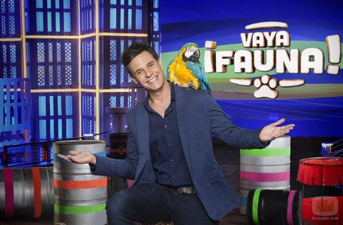 El presentador de '¡Vaya fauna!', Christian Gálvez, sonriente