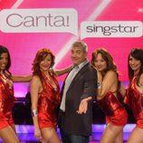 Equipo de baile 'Canta Singstar' con Carlos Sobera al frente