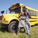 Los concursantes de la Crepería School Bus de 'Cocineros al volante'