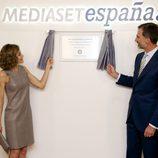 Los reyes, Felipe y Letizia, en su visita a Mediaset España