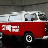 La furgoneta del nuevo programa de Cuatro 'Soy noticia'