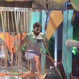 Rubén López lucha en la final de 'Supervivientes 2015'
