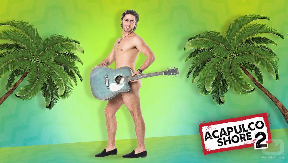 Caballero, al desnudo, participante de 'Acapulco Shore 2'