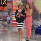María Patiño y Lydia Lozano sorprendidas en 'Sálvame deluxe'