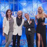 El jurado y la presentadora en la primera gala de 'Insuperables'