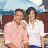 Sandra Barneda y Joaquín Prat sonríen en 'El programa del verano'