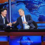 Stephen Colbert y Jon Stewart en el último 'The Daily Show'