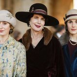 Lady Edith, Cora Crawley y Lady Mary en las fotos promocionales de 'Downton Abbey'