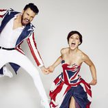 Emma Willis y Rylan Clark, presentadores de 'Celebrity Big Brother'