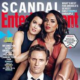 Kerry Wahsington, Tony Goldwyn y  Bellamy Young, portada de revista