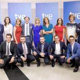 Los presentadores de Informativos de TVE posan para la nueva temporada