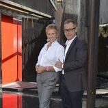 Mercedes Milá y Jordi González en la rueda de prensa de presentación de 'GH 16'