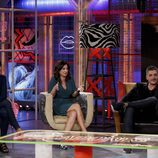 Txabi, Carolina y Lidia en pleno programa de 'Pecadores'