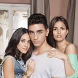 Macarena García , César Mateo y Sara Sálamo(Sonia, Hugo y Cayetana) en la segunda de 'B&b, de boca en boca'