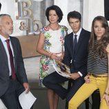 Adolfo Fernández, Cristobal Suárez, Puchi Lagarde y Cristina Alarcón en la segunda de 'B&b, de boca en boca'