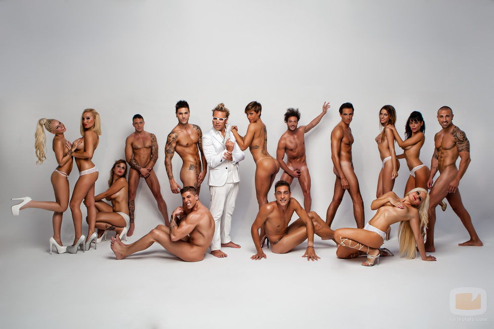 Foto sexy de pie desnudo