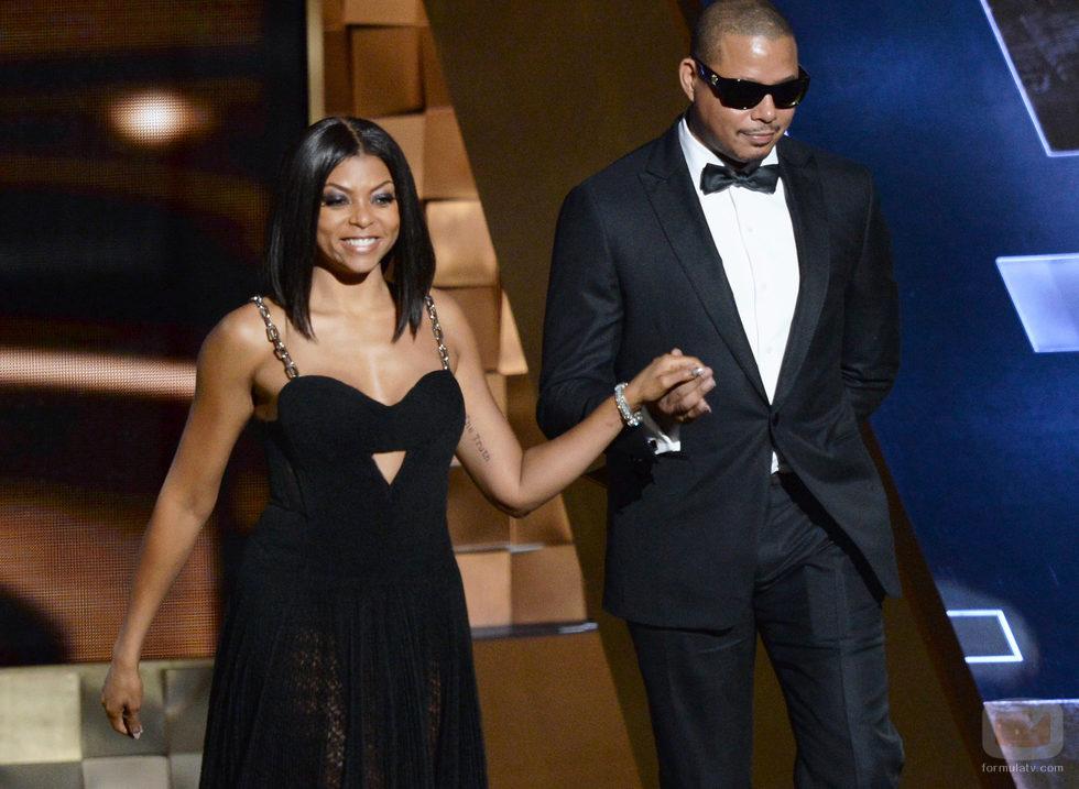Terrence Howard y Taraji P.Henson, pareja rompedora en los Emmy 2015