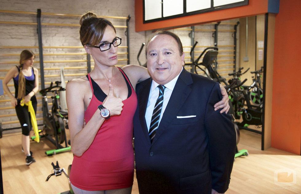 Fernando Esteso y Cristina Alcázar en 'Gym Tony'