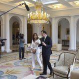 Ana Rosa y Mariano Rajoy (PP), ante las cámaras de 'El programa de Ana Rosa'