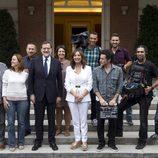 El equipo de 'El programa de Ana Rosa' posa en La Moncloa con Rajoy (PP)