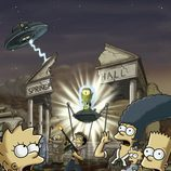 'Los Simpson' atacados por una nave espacial