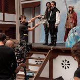 Rodando la primera toma de la nueva escena de 'El Ministerio del Tiempo'