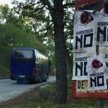 El autobús de 'Rabia' hacia la huida.