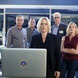 Avery Ryan en su presentación al equipo de 'CSI: Las Vegas'