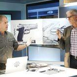 Rushell y Nick en mitad de una investigación en 'CSI: Las Vegas'