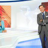 Ana Blanco y Jesús Álvarez en 'Telediario 2'