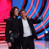 Edu Soto junto a Manel Fuentes en 'Tu cara me suena'