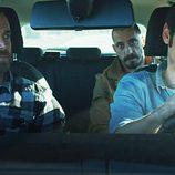 Suso, Crespo y Diego en un coche en 'Rabia'