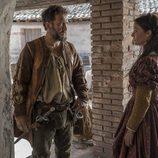 Hernán Cortes, y su esposa Catalina Juárez en 'Carlos, Rey emperador'
