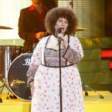 Vicky Larraz imita a Mocedades en la quinta gala de 'Tu cara me suena'